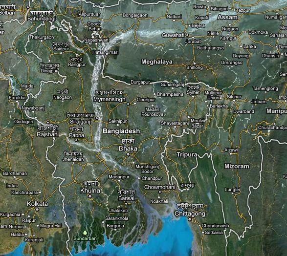 bangladesh satellite map